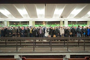 Фоторепортаж: Час пик на станции «Выхино»