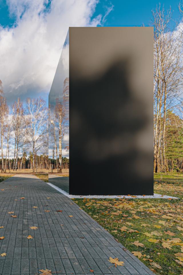Как выглядит трехмерный черный квадрат впарке имени Малевича