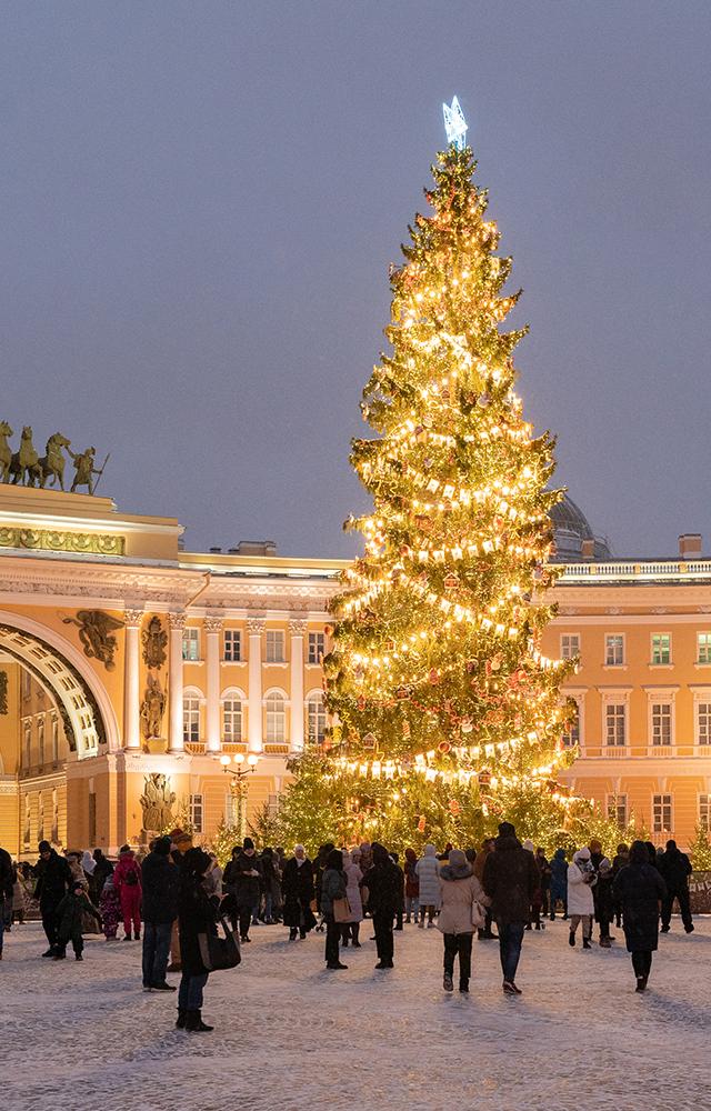 Девять главных новогодних мест вПетербурге
