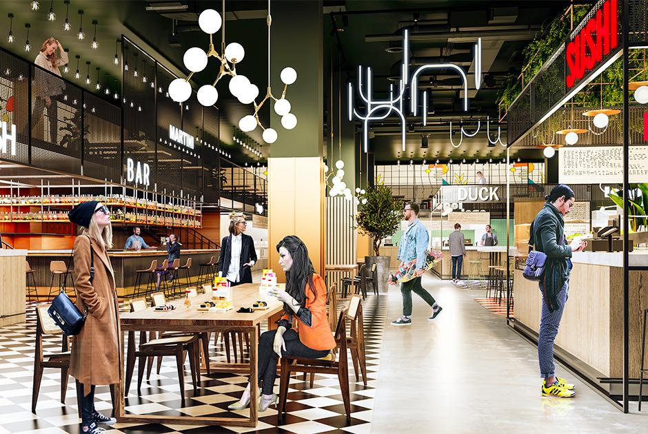 Как будет выглядеть новый фудмаркет E-story в «Гринвиче»