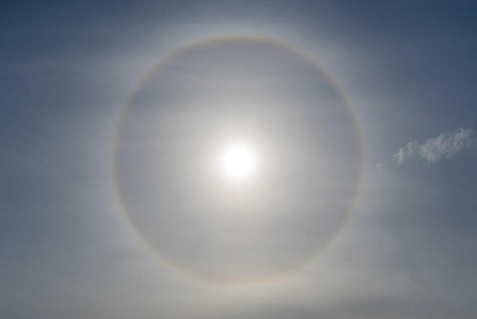 Как выглядело уникальное солнечное гало надМосквой
