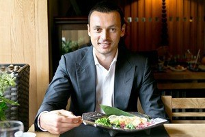 Основатель компании Splat Евгений Дёмин оресторане «Сейджи»