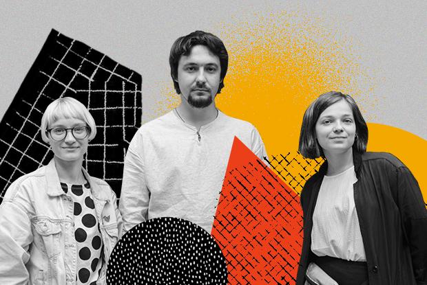 Сергей, Наташа и Поля, команда независимого детского книжного «Маршак»