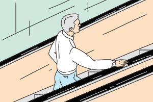 Есть вопрос: «Почему поручни иступени эскалатора движутся сразной скоростью?»