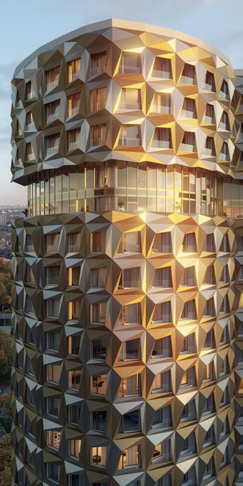 Как будут выглядеть «дом-бриллиант» иребристая башня наЗИЛе