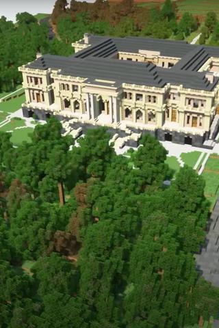 «Дворец Путина», построенный вMinecraft