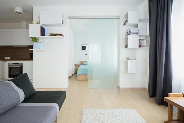 Квартира для большой семьи сминималистским интерьером