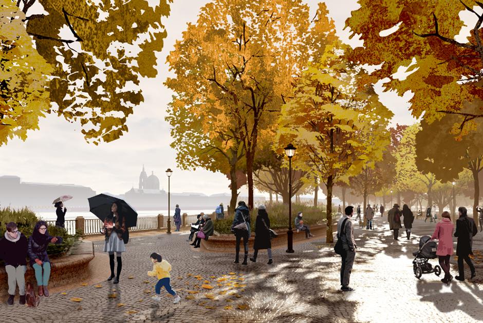 Как выглядит концепция парка «Тучков буян» от «Студии 44» и West 8