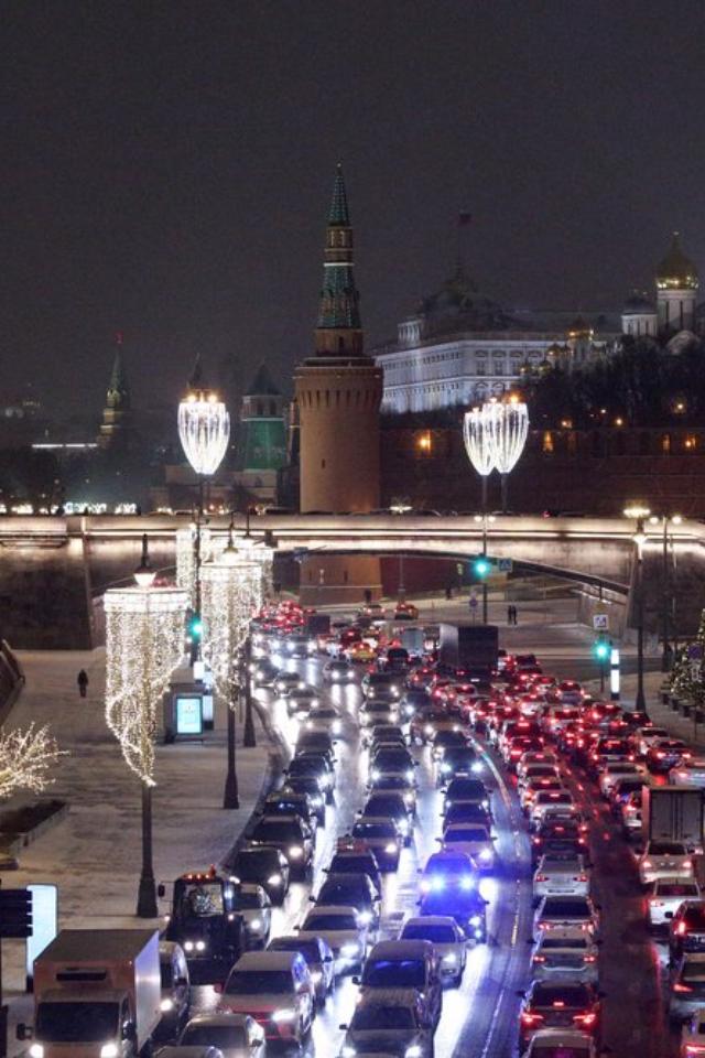 Москву признали городом ссамыми большими пробками вмире