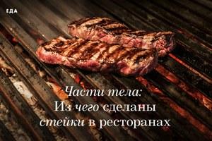 Части тела: Из чего сделаны стейки в ресторанах