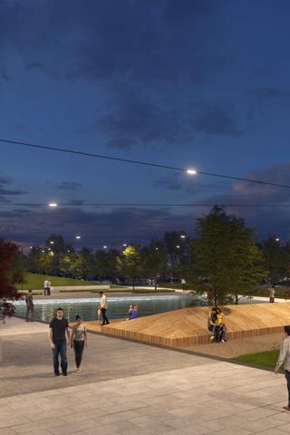 Как будет выглядеть парк «Событие» вРаменках попроекту Wowhaus