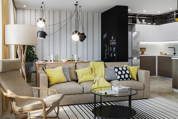 Трехкомнатная квартира для молодой семьи в Краснодаре