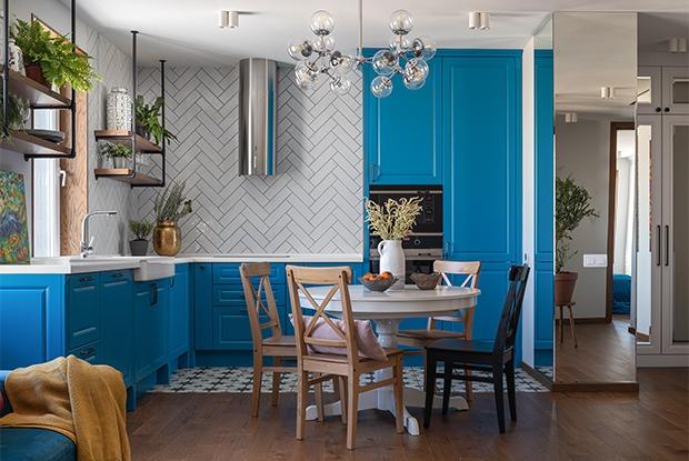 Квартира с яркой кухней-гостиной вЖК«Ольховский парк»