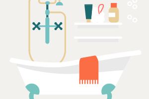 Как обустроить большую ванную комнату