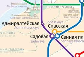 Как выглядит схема петербургского метро от Студии Лебедева