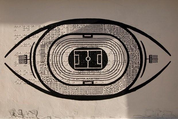 Как выглядит первое вРоссии граффити длянезрячих