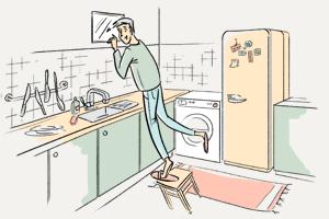 Зачем нужно окно между ванной икухней?