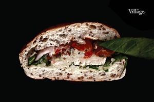 Составные части: Cэндвич с курицей и беконом из «Кофеина»