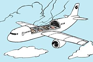 Есть вопрос: «Можно ли просить добавку в самолёте?»