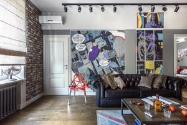 Квартира для молодой семьи скомиксом «Хранители» на стенах
