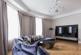 Большая квартира сосветской гостиной вТолстовском доме (Петербург)