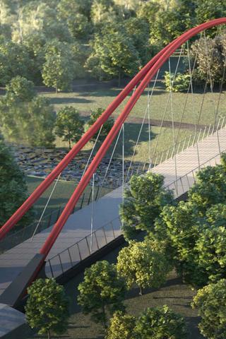 Как будет выглядеть пешеходный мост через Яузу