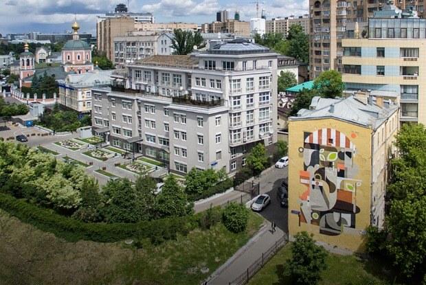 Лучшие московские граффити свысоты птичьего полёта
