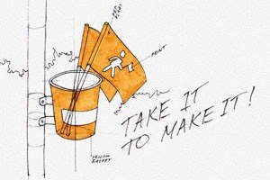 Идеи для города: Пешеходные флажки в Киркланде