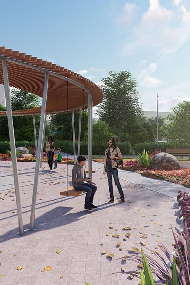 Как будет выглядеть сквер около станции БКЛ «Проспект Вернадского»