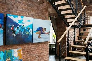 Квартира художника смансардой