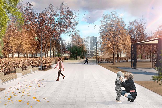 Как будет выглядеть парк имени 22Партсъезда заДворцом молодежи