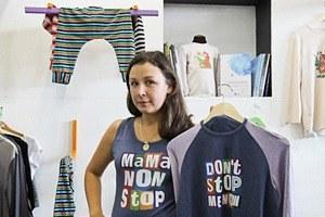 Евгения Лазарева, создатель бренда одежды Mamanonstop