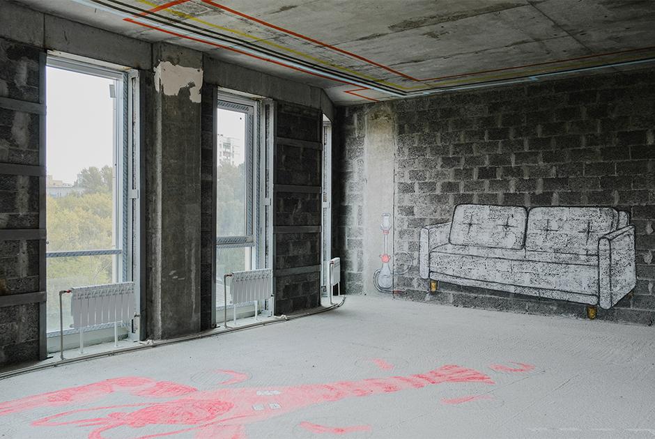 Голый бетон и много современного искусства в новой квартире в Плотничном переулке