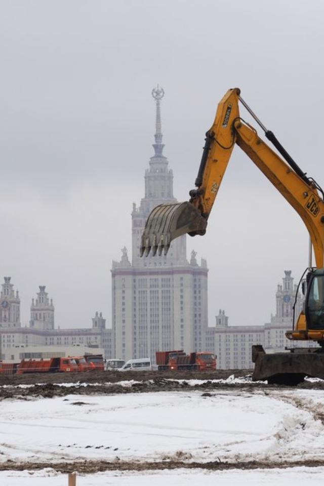 Встолице начали строить научный центр МГУ «Воробьевы горы»