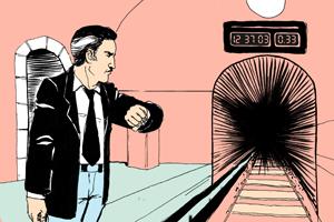 Есть вопрос: «Почему таймеры в метро показывают время после отбытия поезда?»