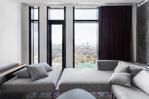 Стекло, бетон итрубы вапартаментах «Москва-Сити»