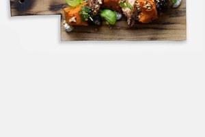 Закуска изкопчёного лосося вдатском стиле