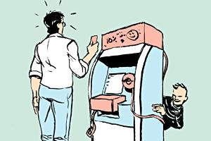 Есть вопрос: «Как понять, чтона банкомате установлено считывающее устройство?»