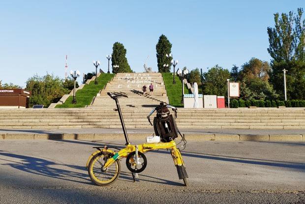 «Я проехал наскладном велосипеде больше тысячи километров отМосквы до Волгограда»