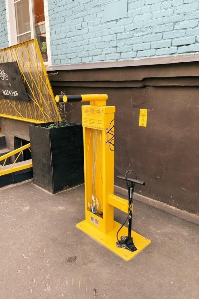 В Artplay появилась бесплатная станция самообслуживания велосипедов