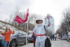 В Москве прошло арт-шествие в честь Дня космонавтики