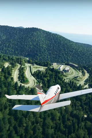 Пролет над «дворцом Путина» вMicrosoft Flight Simulator