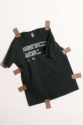 Кофейная футболка отКооператива «Черный» и«Клуба безработицы ипубличного унижения»