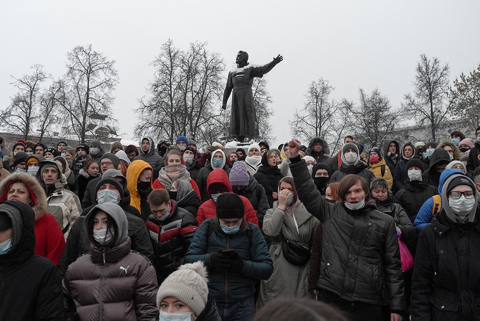 Как прошла акция в поддержку Алексея Навального в Нижнем Новгороде