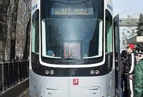Парад трамваев наЧистыхпрудах