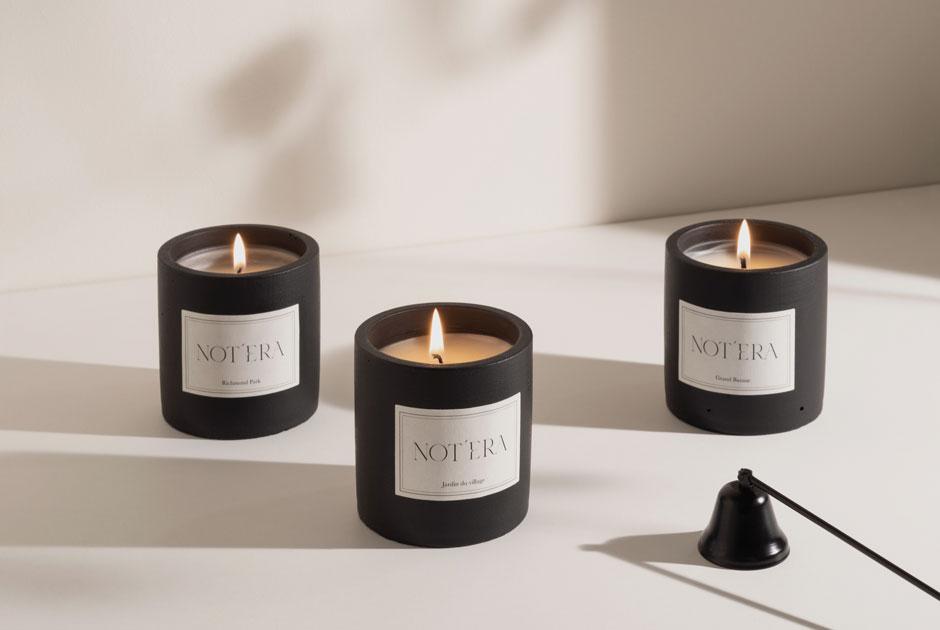 Ароматические свечи сшафраном, сливой иревенем Notera