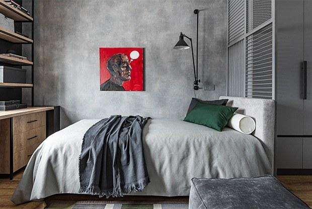 Черно-белый лофт икомната влавандовых тонах: Квартира длядвухподростков наУралмаше