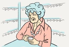 Почему бабушки красят волосы вфиолетовый цвет?