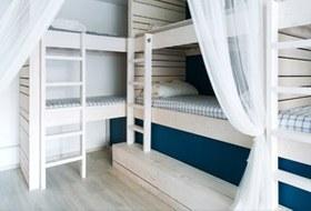 Хостел на«Белорусской» сномерами-каютами идвухэтажной двуспальной кроватью