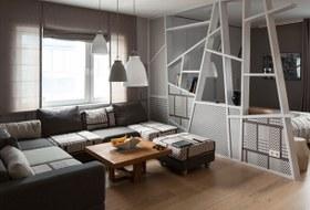Современная квартира для молодого человека в Петербурге